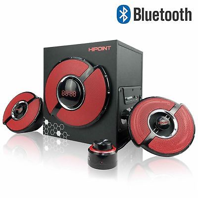 2.1ch Hi-Point Bluetooth & Wired Gaming Speakers With Subwoofer Remote PC Laptop • 31.99£
