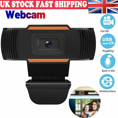 Full HD Webcam USB 2.0 With Microphone MIC For PC Desktop Laptop Video UK Stock • 6.99£