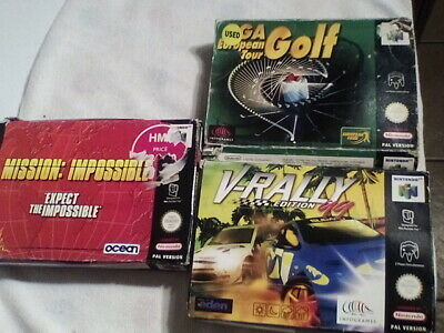 N64 Boxed Games, Mission Impossible,V Rally, PGA European Golf • 16.49£