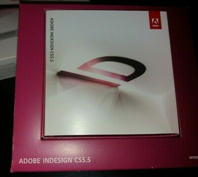 Adobe InDesign CS5.5 UPGRADE FOR WINDOWS *GREAT CONDITION* • 190£