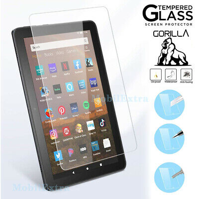 Genuine Tempered Glass Screen Protector For Amazon Fire HD 7 8 10 2019, 2020 • 3.99£