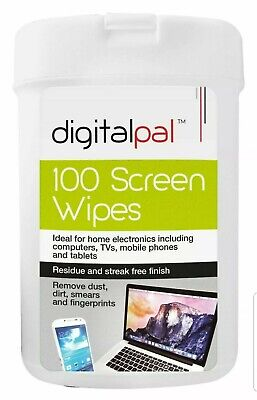 100 Multi Functional Screen Wet Wipes Laptop LCD TV Computer IPad Tablet Cleaner • 3.99£