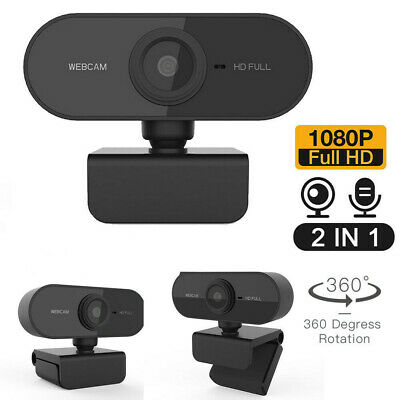Webcam W Microphone Video Streaming For PC MAC USB Camera For Youtube Skype Xbox • 10.99£