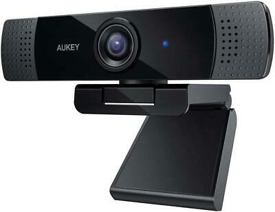 Aukey Full HD (1080p) Webcam For Video Chat With Stereo Microphone - Black - USB • 39.99£
