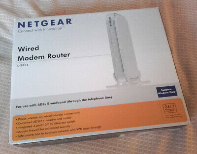 Netgear DG834 Wired ADSL2+ Modem And Router V4 • 13.99£
