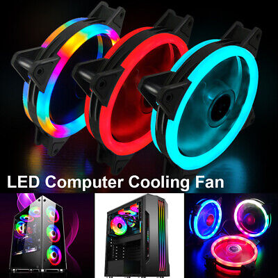 1-6 Pack RGB LED Quiet Computer Case PC Cooling Fan Light For Computer Cooler • 14.59£