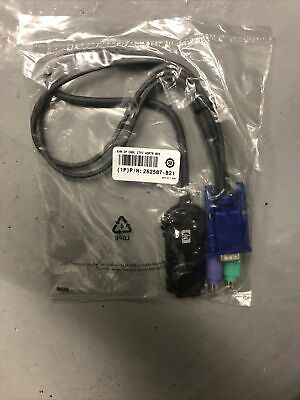HP KVM IP Interface Adapter Cable Leads - VGA PS/2 To RJ45 (262587-B21) • 3.50£