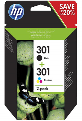 HP 301 Black And Colour Ink Cartridge Combo Pack  • 29.99£