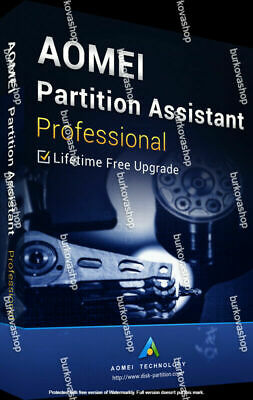 For AOMEI Partition Assistant Pro 8.5 Ful Version License • 14.54£