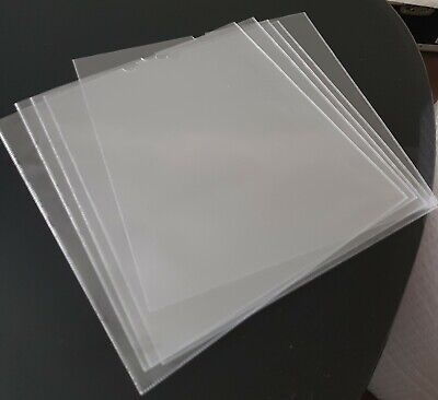 5 X 10  Inch Clear PVC Outer Vinyl Record LP Seeves Covers • 4.99£