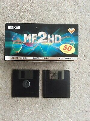 """Maxell MF2HD 3.5"""" 1.44MB Disks X 33. Formatted. Used. • 1.30£"""
