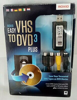 Roxio Easy Vhs To Dvd 3 Plus Vhs To Dvd Adaptor Transfer Windows 10 • 20£