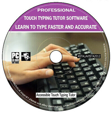 Proffesional Touch Typing Tutor Learn To Type Faster Accurate PC Software New CD • 3.49£