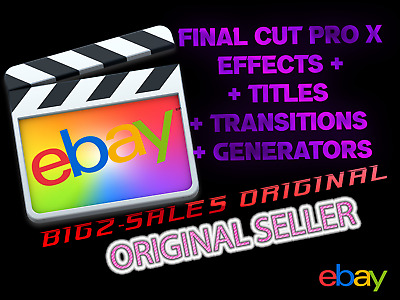 Huge Bundle - Effects, Generators, Titles, Transitions For Final Cut Pro X  • 5£
