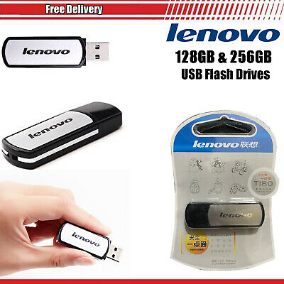 Genuine Lenovo 128 GB 256 GB USB 2.0 Memory Stick Flash Drive Data Storage Pen • 12.45£