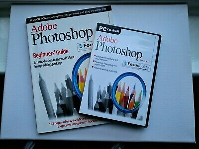 ADOBE PHOTOSHOP BEGINNERS GUIDE PC/MAC CD-ROM Focus Guide And Book ( Issue 1 ) • 5£