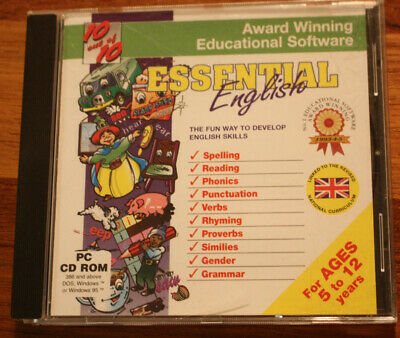 Essential English PC CD-ROM For Children Aged 5 To 12 • 0.99£