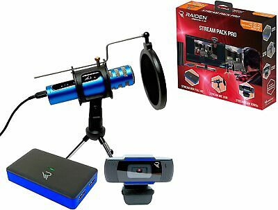 Raiden Stream Pack Pro For Streaming Gamers And Youtubers, Full HD Video Capture • 179£