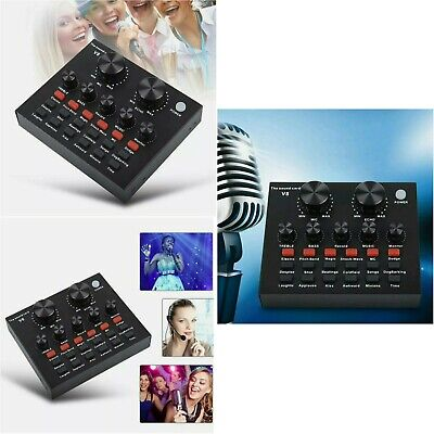 V8 Audio External USB Headset Mic Webcast Live Sound Card For Phone Computer PC • 9.99£