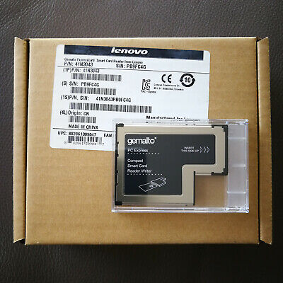 Lenovo Gemalto 54mm PC Express Smart Card Reader Writer 41N3043 Sealed In Box • 9.45£