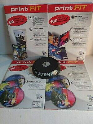 CD Stomper Pro: CD, DVD Labeling System Plus CD And Dvd Case Inserts • 14.99£