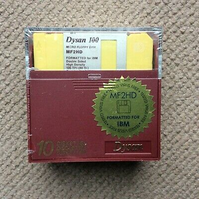 Sealed Box Of 10 Brand New 3.5  DS/HD 1.44MB Floppy Disks • 11.86£