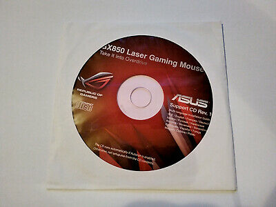 [DISC ONLY] Genuine Asus GX850 Laser Gaming Mouse Support CD Rev. 1.1 For PC. • 4.99£