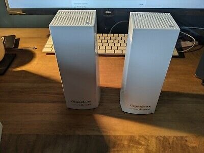 Pack Of 2 - Gigaclear - Linksys WHW0301 Velop Home Mesh Wi-Fi Router • 21£
