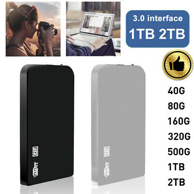 40G - 2T USB3.0 External Hard Disk Drive 2.5 Inch HDD For Laptop Computer TS • 14.40£