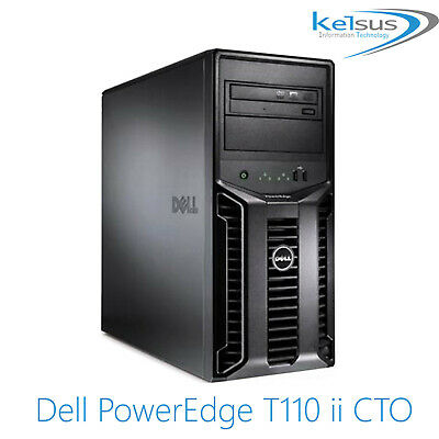Dell PowerEdge T110 II CTO Intel Xeon Quad Core 32GB RAM  2TB HDD Tower Server • 150£