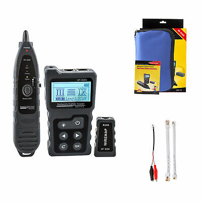 Multi-functional LCD Network Cable Tester Wire Tracker PoE Checker Tester W5V3 • 49.85£