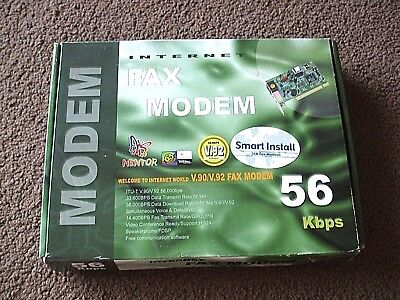 Internet Internal Fax Modem 56kbps. V.90/v.92.with Disc And Leads. New And Boxed • 1.40£