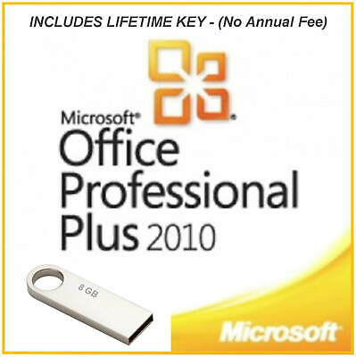 Offce 2010 Professional With Lifetime Product Key - Includes 32 And 64bit Option • 10.50£