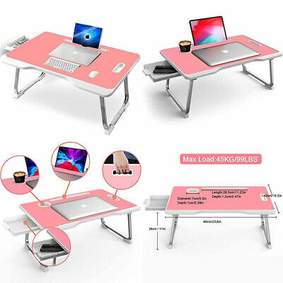 Laptop Bed Table Foldable Lap Desks Multifunction Tablet With Drawer/Cup...  • 54.24£