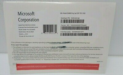 (EXO) Microsoft Windows 10 64bit English CD BNIB  • 19.99£