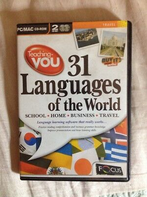31 Languages Of The World PCCDROM For XP Or MAC • 0.99£
