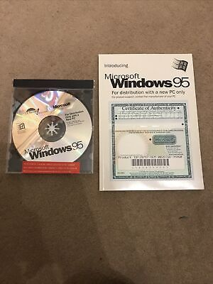 Microsoft Windows 95 Disc With Guide Book • 3.70£