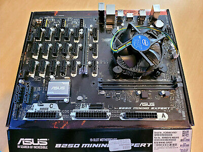 19x PCIe Asus B250 MINING EXPERT Motherboard Bundle With Intel Processor • 250£