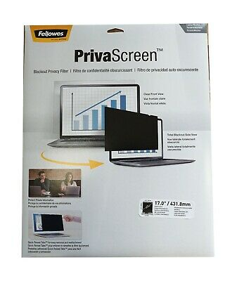 Fellowes 17  Widescreen PrivaScreen Blackout Privacy Screen Filter Laptop NEW • 39.50£