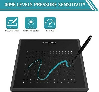 Kenting K5540 Drawing Tablet USB Graphic Tablet 5.5 X 4 Inches Pen Tablet Board • 20£
