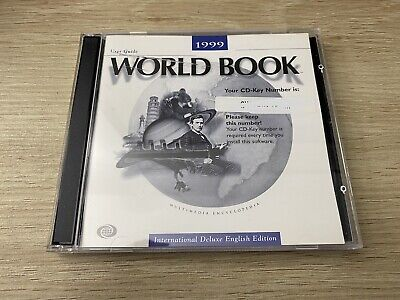 1999 WORLD BOOK ENCYCLOPEDIA International Deluxe Edition 2 CD ROM Set + CD Key • 10.54£