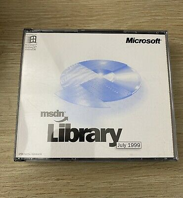 Vintage Microsoft Msdn Library July 1999 • 8.32£