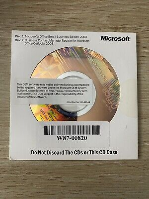 Microsoft Office Business Edition 2003 With Business Contact Manager +CD Key • 10.54£