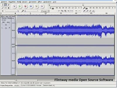 AUDACITY Sound Music Editor- Recording SOFTWARE On CD - 1st Class Post • 3.75£