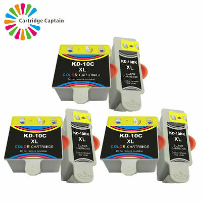 6 Ink Cartridges For Kodak ESP 3 5 7 9 3250 5210 5250 7200 7250 9250 Office 6150 • 10.99£