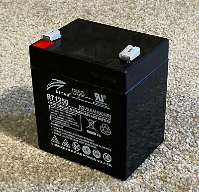 Ritar RT1250 - Brand New Battery - 12V 5AH / Cube Shape • 18.54£