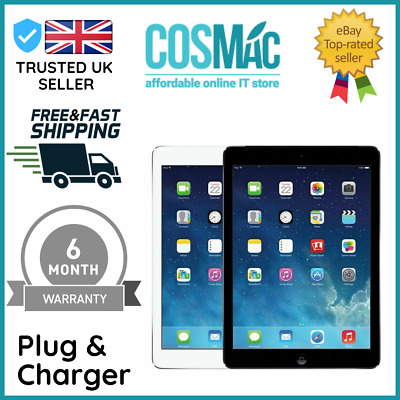 Apple IPad Air 16GB WiFi Only 9.7in Silver/white Retina Display A+ 12M Warranty • 179.99£