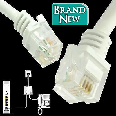 RJ11 To RJ11 ADSL2+ High Speed Broadband Modem Internet Router Phone Cable Lot • 3.45£