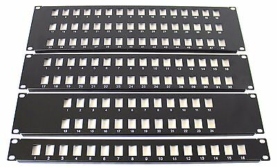 48 Port 19  Rack Mount Keystone Frame Panel For Data Cabinets, Patch Connections • 9.99£