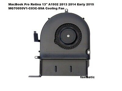 MacBook Pro Retina 13  A1502 2013 2014 Early 2015 MG70050V1-C03C-S9A Cooling Fan • 12.99£
